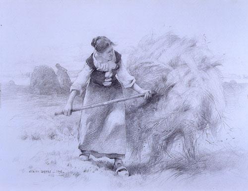 Paysanne dans les champs par Julien Dupré