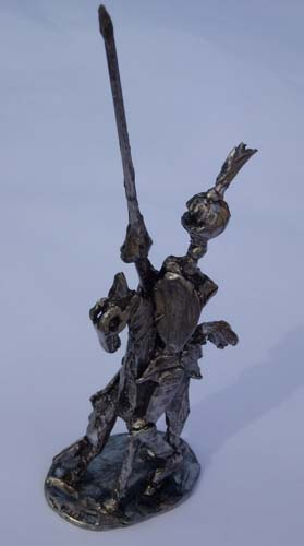 Don Quichotte Christian Malézieux Sculpture Etain Sculpture