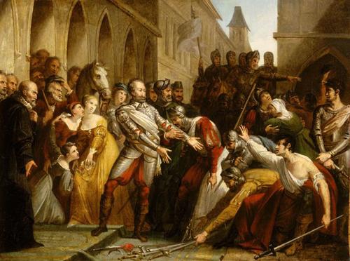 Henri Iv A Libourne Apres La Bataille De Coutras Pierre Jerome Lordon Peinture Toile Huile