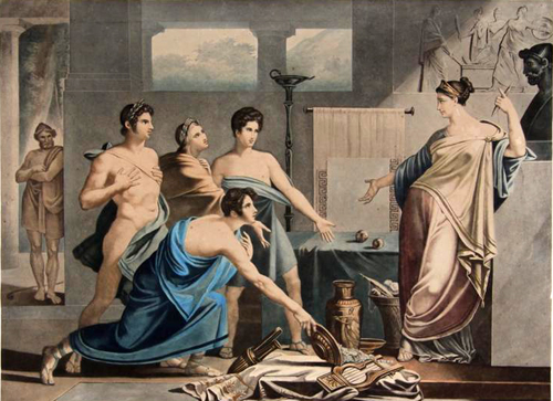 Odyssee Ulysse Temoin De La Fidelite De Penelope Pierre Jerome Lordon Peinture Papier Encre