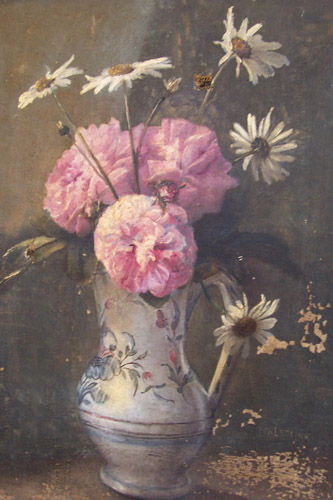 tableau vase fleurs