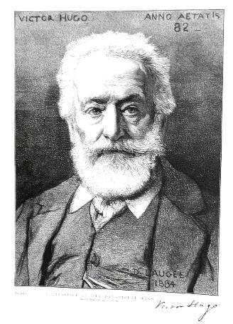 Portrait de Victor Hugo Désiré François Laugée Peinture Toile Huile
