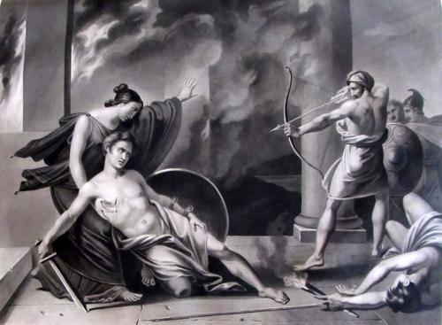 La Mort D Alcibiade Pierre Jerome Lordon Peinture Toile Huile