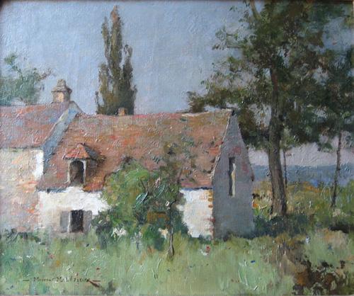 La petite maison maurice gabriel mal zieux peinture toile for Peindre une maison