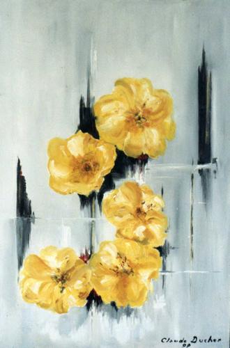 Nature Morte de fleurs par Claude Ducher
