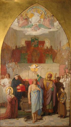 Le baptême de Clovis par Désiré François Laugée